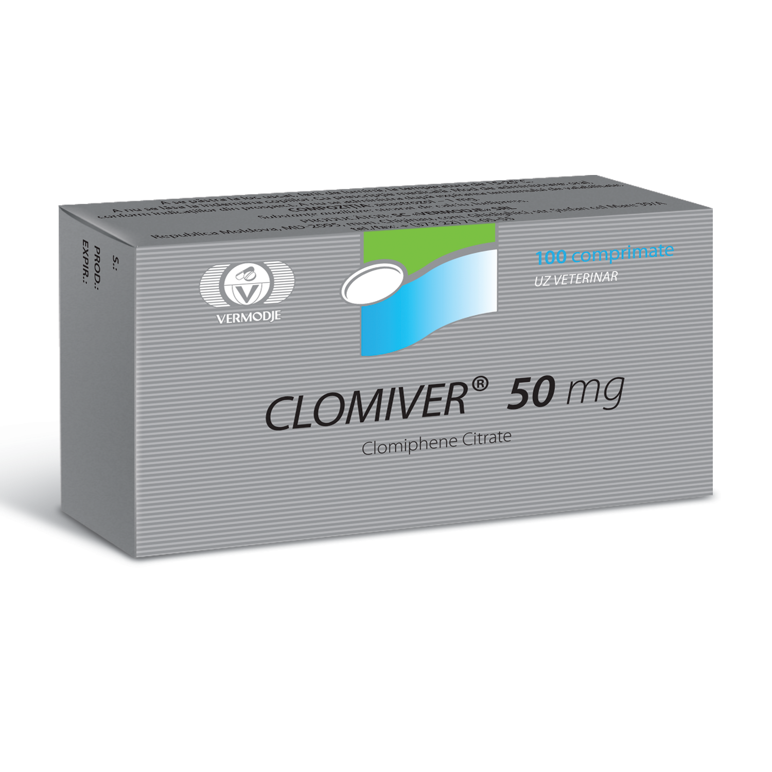 Clomiver (Clomiphene Citrate) 50 mg 100 Tabs